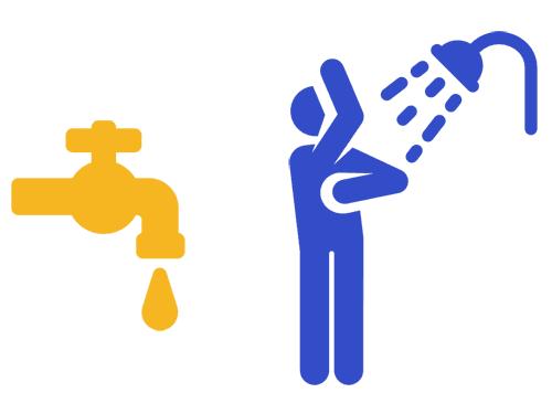 Wasserhaushalt: Körper waschen