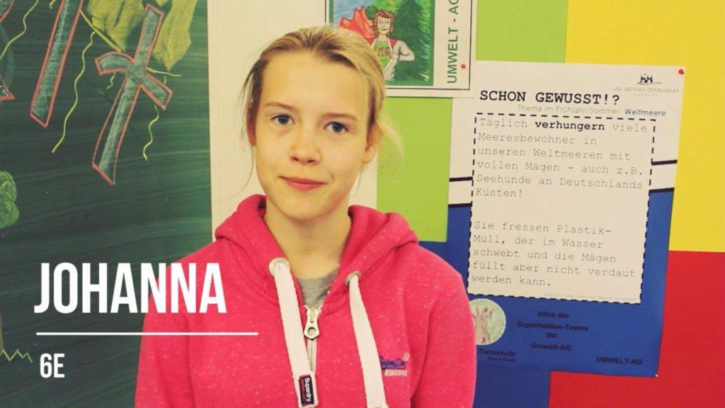 Hamburger Schüler retten die Welt: Johanna