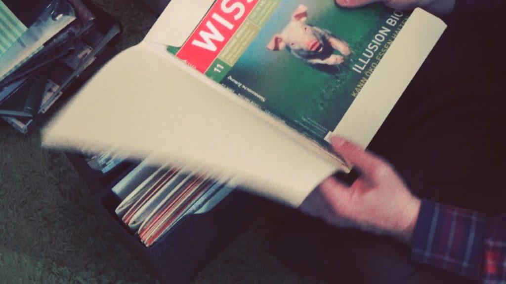 Wohnraumdiät: Zeitschriftenbeiträge archivieren